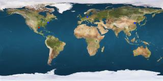 Kort over besøgende