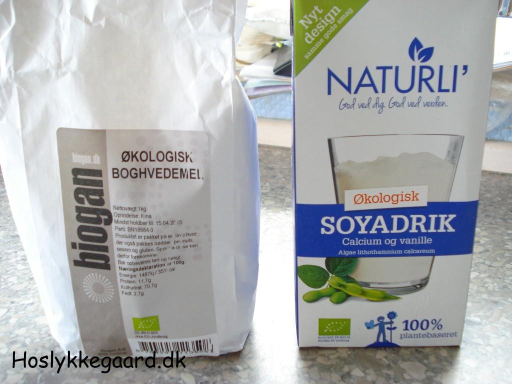 Boghvede og soja mælk