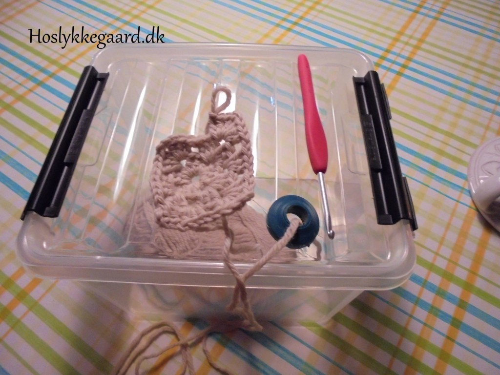 plastbox med løsning
