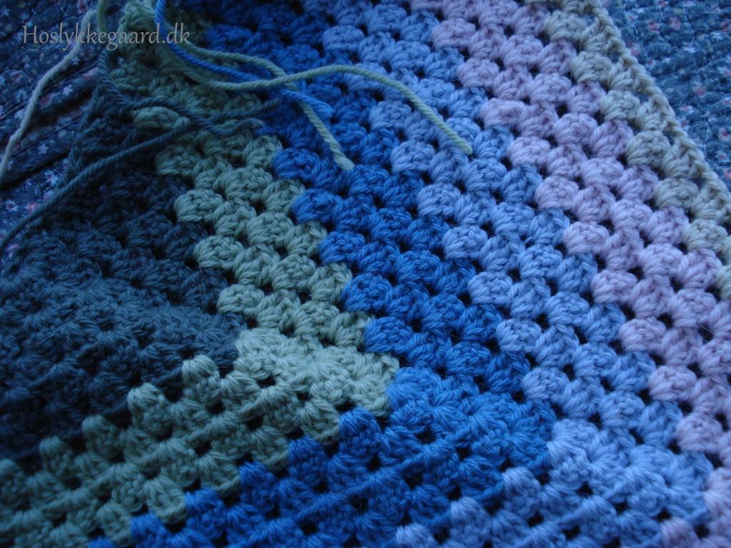 sjal i pastel farver